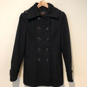 Miss sixty black small peacoat